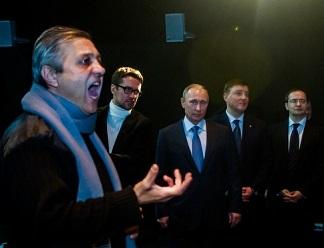 Владимиру Путину показали обновленный большой зал псковского театра