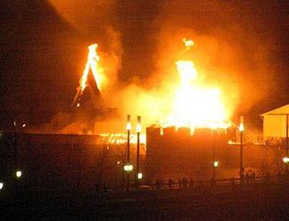 Поджога башен Псковского кремля не было