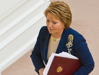Валентина Матвиенко вышла на работу в новом статусе